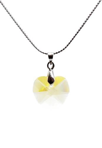 Torenda yellow Love Pendant Kalung Liontin Swarovski - Kuning (Jonquil) B4528AC031ACCEGS_1