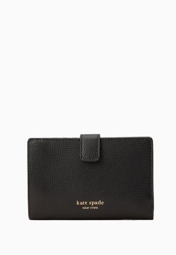 Kate Spade black Kate Spade Sylvia Medium Bifold Wallet - Black 3E5B7ACB1E233DGS_1