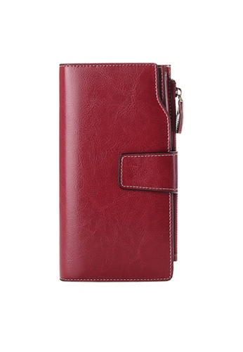Twenty Eight Shoes red VANSA Burnished Leather Bi-Fold Long Wallet VBW-Wt5156 48CDEACD56EE7FGS_1