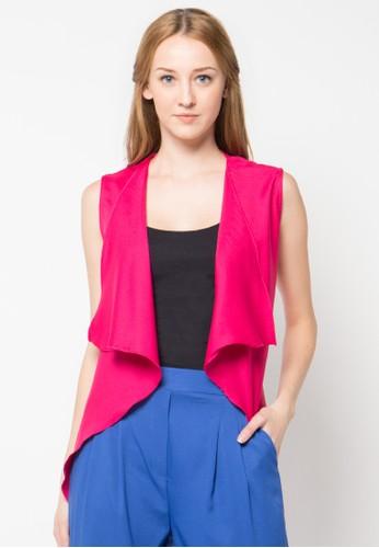 Raspberry pink Kyla Sleeveless Cardigan RA572AA67PTCID_1