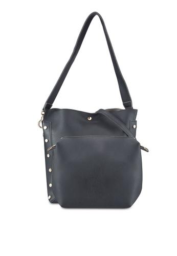 DMK black Studded Bucket Bag DM860AC11WAUMY_1