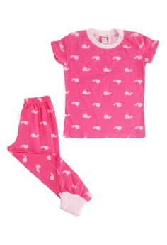 Pink Whales Pajama Set