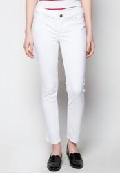 Bobson white Low Waist, Skinny Tapered Non-Denim Pants BO748AA16TULPH_1