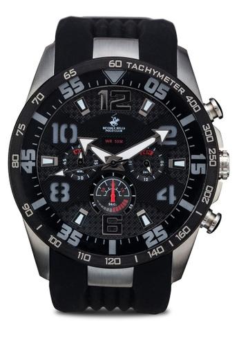 Carlo Cardini black and silver Carlo Cardini CX5 004G-SS-44 Gents Watch CA038AC45LEGMY_1