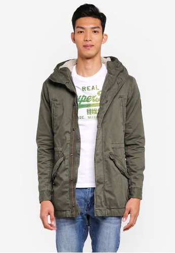 Superdry green New Military Parka F6958AAA83C678GS_1