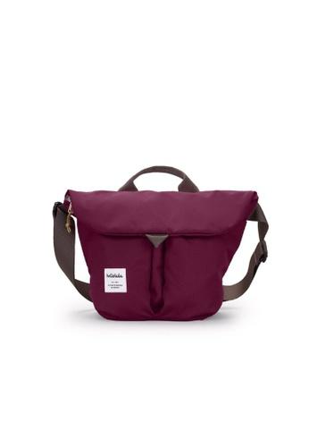 Hellolulu red Hellolulu Kasen Shoulder Bag (Wine) C008DAC4066F2DGS_1