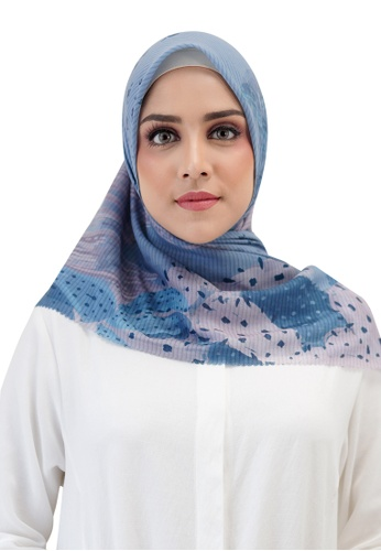 Buttonscarves blue Buttonscarves Opuntia Voile Square Sky 487A9AA38BCF22GS_1