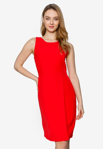 Saturday Club red A-Line Dress With Cut-Out Back 380DBAAFAE48C5GS_1