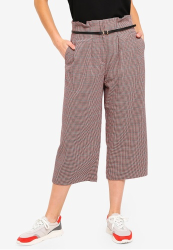 ESPRIT red Woven Checkered Pants 1852CAA9D062EFGS_1