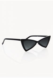 97ec5ee157 Super Cat Eye Triangle Sunglasses - Black D0F13GL70594E1GS 1 Pomelo ...