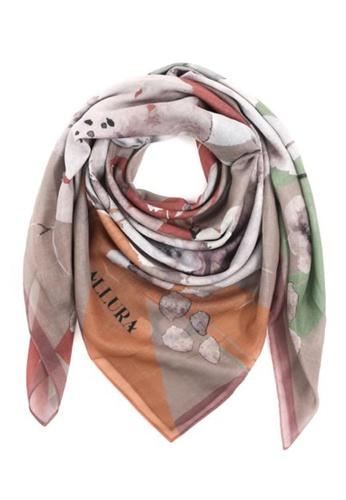 "Modest-Runway Inc. brown and multi and beige ALLURA ""Colmar"" Autumn COTTON Scarf/Hijab 5FEBFAA2B661F8GS_1"