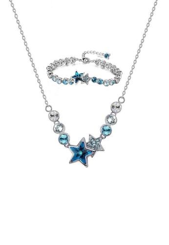 ADORA blue Swarovski Star Set AD365AC2WCA0HK_1
