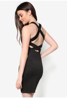 Love Strappy Back Bodycon Dress