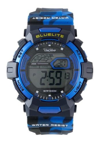 UniSilver TIME blue Ejay Falcon's Quantum Camo Men's Rubber Strap Watch KW2006-1001 D7A8BAC3FF5C7AGS_1