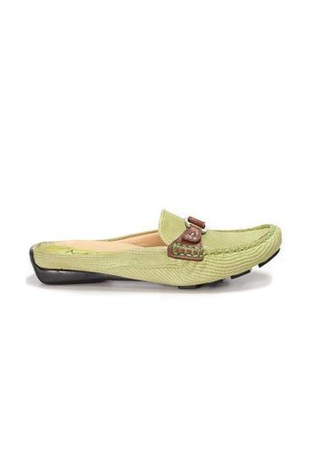 Shu Talk green AMAZTEP Bi-colored Buckle Slip On Mule Loafers 4A1A1SHFD8A7ADGS_1