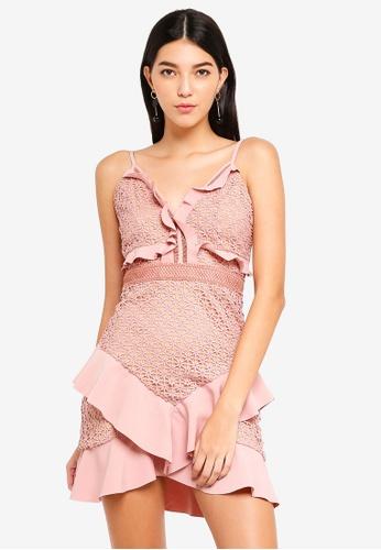 Bardot pink Fae Lace Dress 61101AA59965BDGS_1