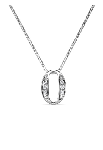 Her Jewellery silver Number Pendant (0) - Made with Premium grade crystals from Austria 0552FAC95BCEA9GS_1