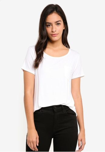 Hollister white Single Bar V-Neck Tee AD6B8AA57A08AAGS_1