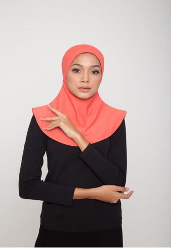 Matsalleh Design pink Swim Hijab in Coral Pink 50902AAFAF386BGS_1