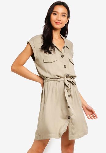 186aebaeff73 Buy Cotton On Woven Eve Sleeveless Shirt Dress Online | ZALORA Malaysia