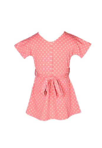 Mini Moley pink Polka Dot Print Girl's Flare Dress A9E43KAE4B1559GS_1