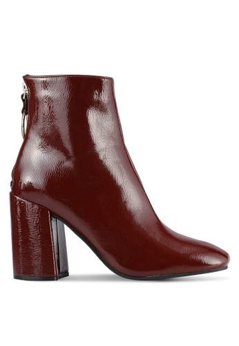 Dorothy Perkins red Atlas Square Toe Boots DO816SH0S2KHMY_1