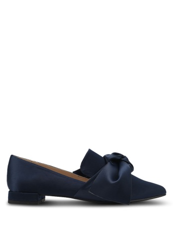 Something Borrowed blue Satin Bow Flats 72C5AZZ38879CAGS_1