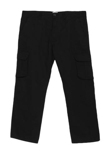 Electro Denim Lab black Plus Size Straight Cut Cargo Pants 1E708AA87461C2GS_1