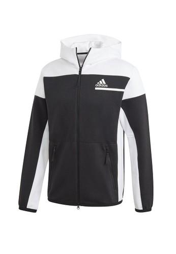 ADIDAS black zne fz zipper hoodie B6E44AA62EF78EGS_1