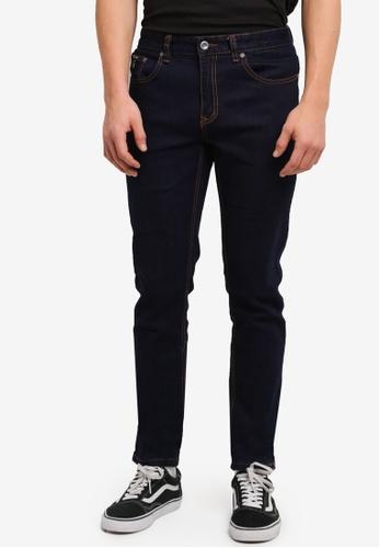 UniqTee 藍色 Slim Cut Stretch Jeans UN097AA0SHE6MY_1