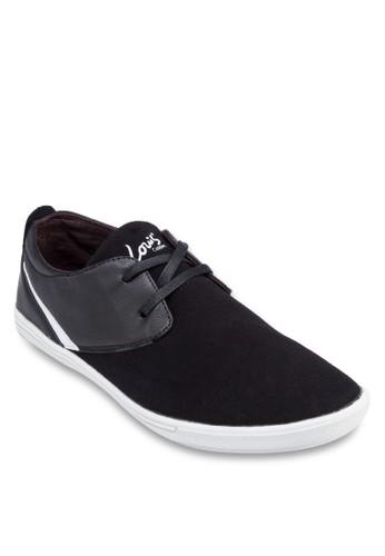 zalora taiwan 時尚購物網雙眼仿皮拼接休閒鞋, 鞋, 鞋