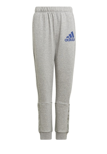 ADIDAS grey boys badge of sport pants A6BCEKA24895DDGS_1