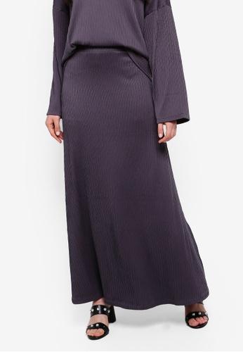 ZALIA BASICS 灰色 Basic A-Line Skirt 7F7E5AAA2A4CB9GS_1