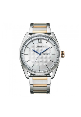 Citizen silver Citizen Eco-Drive AW0084-81A Rose Gold and Silver Stainless Steel Watch DAB3DAC2D66C1EGS_1