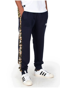 Reoparudo blue and navy RPD Camo Contrast Sweat Pants (Navy Blue)  F565AAAD1D5737GS_1