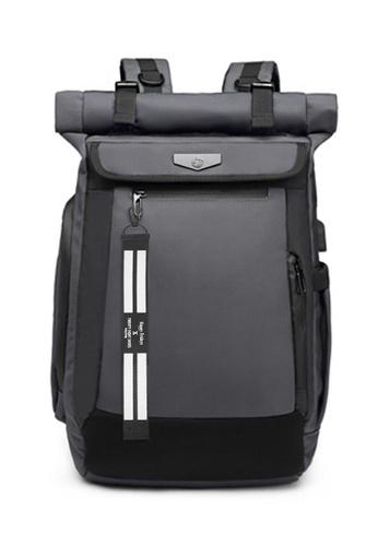 Twenty Eight Shoes grey Business Laptop Backpack M9066 CC835AC2566B28GS_1