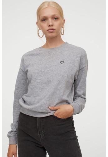 H&M grey Sweatshirt B5F40AA711A39EGS_1