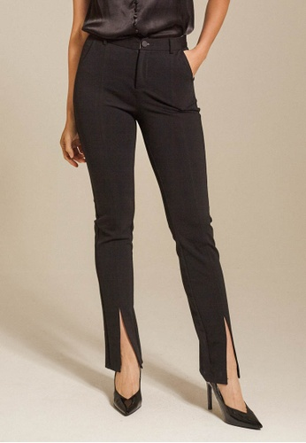 Dressing Paula black Mid-Rise Straight Leg Pants 81EB7AA35FCF2EGS_1