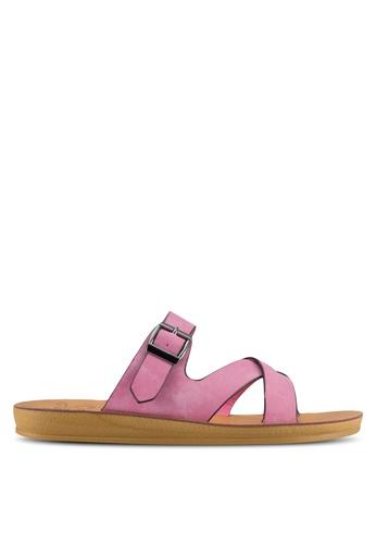 Noveni 粉紅色 Strappy Slip On Sandals NO978SH61VUCMY_1
