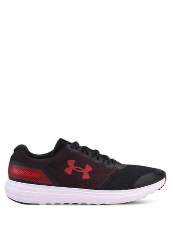 Under Armour black UA Surge Running Shoes 9FB9DSHD66F807GS_1