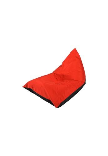doob black and red PLATOOPAT - dumpling-shaped doob bean bag lounger (Cola Chili) FB8EAHL570C0C1GS_1