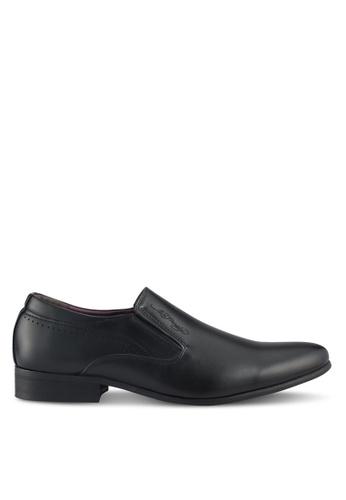 Ed Hardy black Leather Formal Shoes 26909SHF263E15GS_1