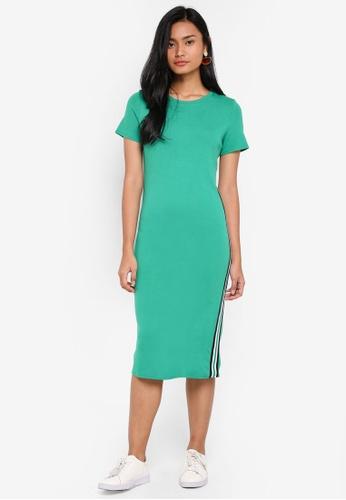 Dorothy Perkins green Khaki Short Sleeve Bodycon Dress DE1E4AA5487AB5GS_1