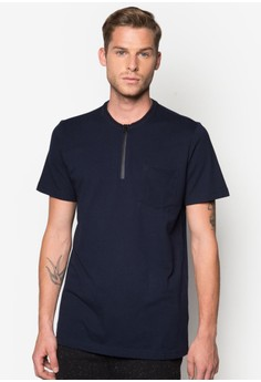 Coated Zipper Polo With Tipping Detail