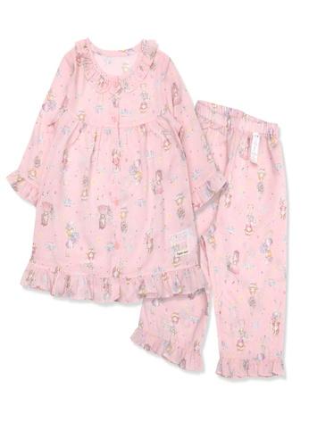 Organic mom pink Organic Cotton April Girl 3/4 length sleeves Pjs 7B694KA853148BGS_1