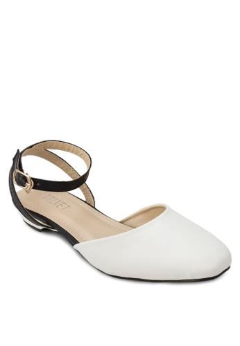 Chrizalora鞋子評價stine 撞色包頭踝帶涼鞋, 女鞋, 鞋