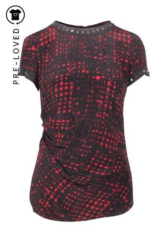 Isabel Marant black Pre-Loved isabel marant Black And Red Print Top B95B0AAEE4DD10GS_1
