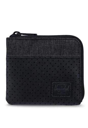 Herschel black and grey Johnny RFID Wallet E92C0ACD3FAAF4GS_1