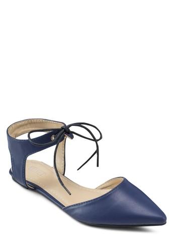 Sienna 基本款尖頭繞踝平底鞋, zalora 泳衣女鞋, 鞋