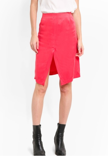 Vero Moda red Nadege Skirt VE975AA09MKWMY_1